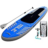 """ISLE Airtech Inflatable 10' All Around Stand Up Paddle Board (6"""" Thick) iSUP Package 