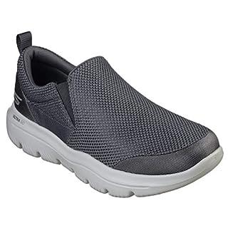 Skechers Men's GO Walk Evolution Ultra-Impeccable Sneaker, Charcoal, 8.5 X-Wide