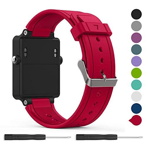 for Garmin vivoactive Band,EasyJoy Soft Silicone Replacement Band for Garmin vivoactive Smart Watch,Not fit Garmin vivoactive hr (Rose red)