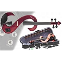 Stagg EVN 4/4 MRD Silent Violin Set with Case - Metallic Red