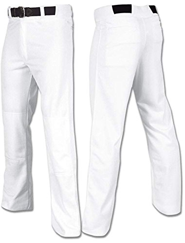 Joe's USA Open Bottom Relaxed Fit Baseball Pants Adult White-M