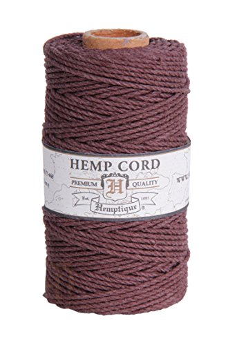 - BROWN 2mm Polished Hemp Twine Hemptique Cord Macrame Bracelet Thread Artisan String 48lbs (205ft Spool)
