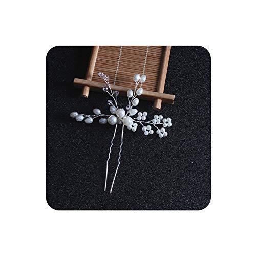 Women Pearl Hair Combs Wedding Hair Accessories Hair Pin Tiara Bridal Crystal Crown Bride Hair Jewelry Gifts,N-2