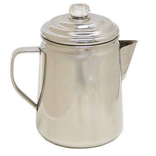 Coffee Percolator Camp - Coleman Stainless Steel Percolator, 12 Cup