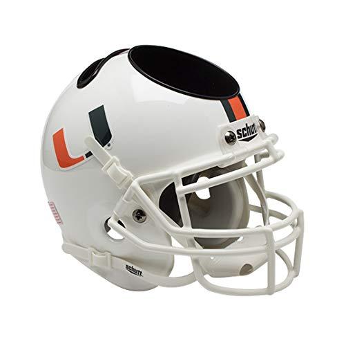NCAA Miami Hurricanes Mini Helmet Desk Caddy (Miami Hurricanes Merchandise)