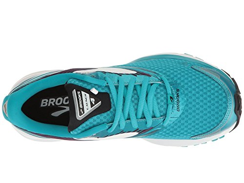 219a081633252 Galleon - Brooks Women s Launch 4 Teal Victory White Black Athletic Shoe