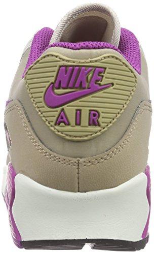 NikeWMNS AIR MAX 90 LTHR - Zapatillas Mujer Dsrt Cm/Prpl Dsk-Strng-Dp Ryl
