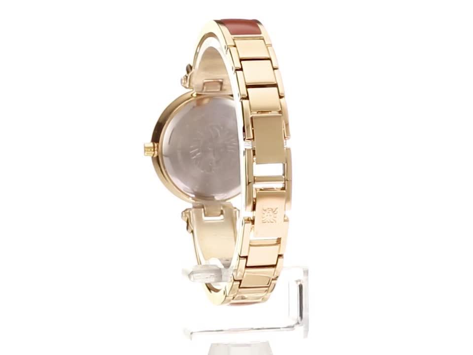 Anne Klein Women's Diamond-Accented Bangle Watch