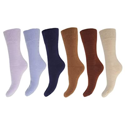 FLOSO Ladies/Womens Thermal Socks (Pack Of 6)