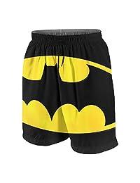 OINUNTN Swim Trunks Batman Logo Quick Dry Beach Board Shorts Bathing Suit with Side Pockets for Teen Boys