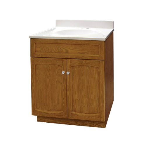 Foremost HEO2418 Heartland 24-Inch Oak Vanity with Top - Foremost Oak Vanity