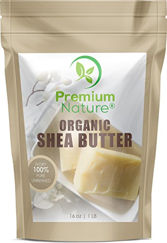 Raw Unrefined African Shea Butter - 16 oz Organic Natural for Body Butters Lotions Lip Balms Strech Mark Removal Eczema Treatment - Skin Moisturizer Sunscreen & Hair Care - for DIY Premium Nature