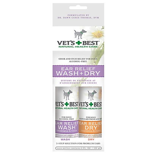 Vets Best Dog Ear Relief Wash n Dry 2 Pack ()