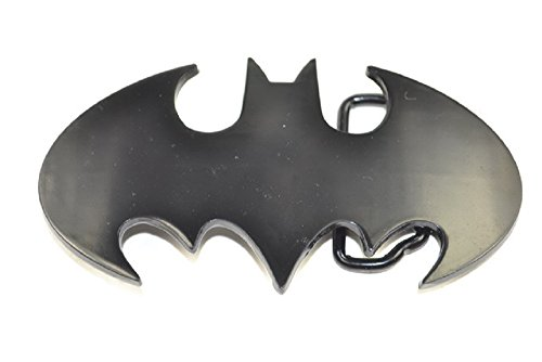 Official cut out BLACK Batman Belt Buckle LICENSED with TAGS (Metal Licensed Belt Buckle)