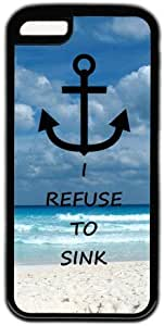 Beach Quote Anchor I Refuse To Sink Theme for ipod Touch 4 Case