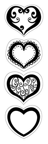 Heart Acrylic Album - Inkadinkado Hearts Cling Stamp