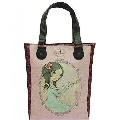 For Mirabelle Love Glitter de Shopper All Bolsa Santoro qwanRtx4