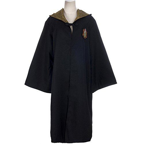 HP2 Harry Potter Costume Young Adult Robe ALL 4 HOUSES S-XXL (Small, Hufflepuff: Yellow) (Hufflepuff Robes)