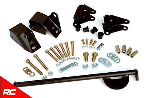 Rough Country Front Shackle Reversal Kit Compatible w/ 1976-1986 Jeep All CJ Shackle Reversal Kit CJ5 CJ7 CJ8 5060