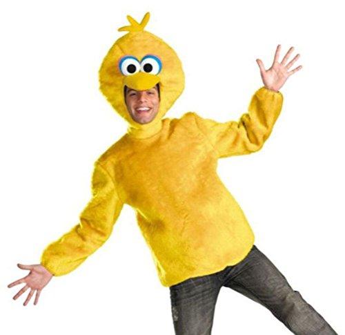 Disguise Unisex Adult Male Big Bird, Yellow, X-Large (42-46) Costume