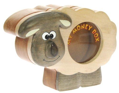 Schaf : Spardose mit Geheim Lock: Handcrafted Holz: Top Weihnachten und Geburtstag Geschenk-Idee: Qualität traditionelle Weihnachtsgeschenk für Jungen, für Mädchen, für ihn, für sie, für Kinder & For Fun Liebend Erwachsene! (Größe 16x13x5.5cm)