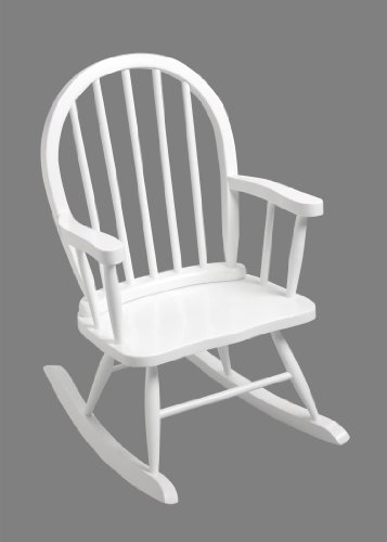 - GiftMark Children's Windsor Rocking Chair in White Color