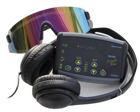 Mind Alive David DELIGHT PLUS Light & Sound Machine w/ 25 Sessions (Best Headphones For Brainwave Entrainment)