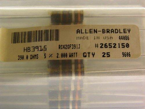 25 Allen Bradley RC42GF153J 390 Ohm 5% 2W Carbon Comp - Comp Resistors 2w Carbon