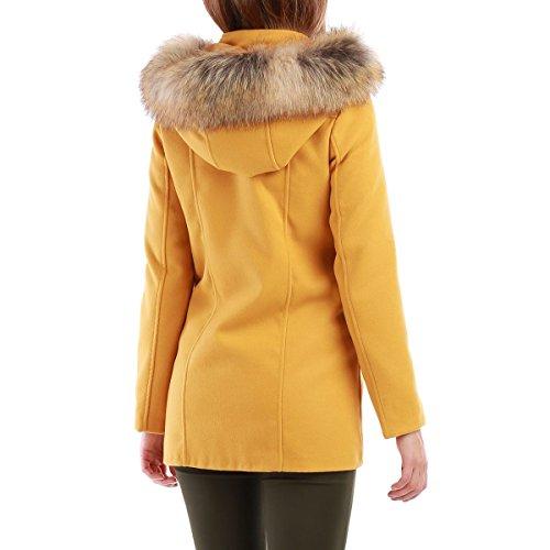 La Modeuse - Abrigo - para mujer amarillo