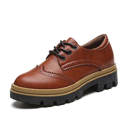 Vintage tallado zapatos/ primavera y otoño zapatos del ocio/ plano planos zapatos-A Longitud del pie=22.3CM(8.8Inch)