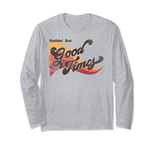 Good Times 70's Vintage Retro Shirt Groovy Feeling Long Sleeve T-Shirt