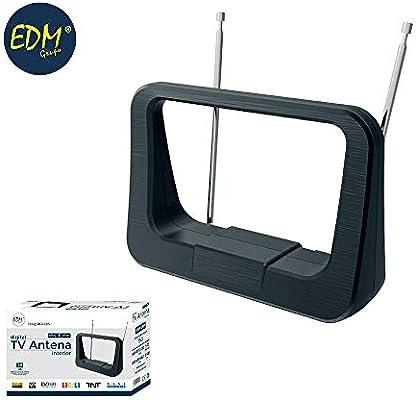 VHF ANTENA INTERIOR TV EDM 470-862 mHZ CLASSIC SERIES 170X120X60MM ...