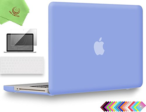 UESWILL 3in1 Smooth Soft-Touch Matte Hard Shell Case Cover for MacBook Pro 13'' with CD-ROM (Non-Retina)(Model:A1278) + Clear Keyboard Cover and Screen Protector, Serenity Blue by UESWILL