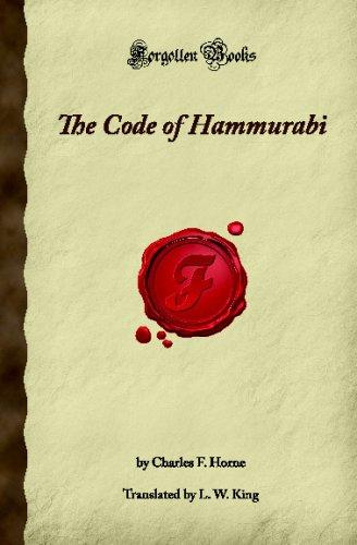 The Code of Hammurabi (Forgotten Books)