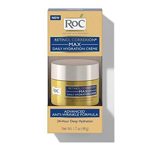 41AHaPSxB6L - RoC Retinol Correxion Max Daily Hydration Anti-Aging Crème for 24-Hour Deep Hydration, Advanced Anti-Wrinkle Moisturizer Made with Retinol & Hyaluronic Acid, 1.7 oz