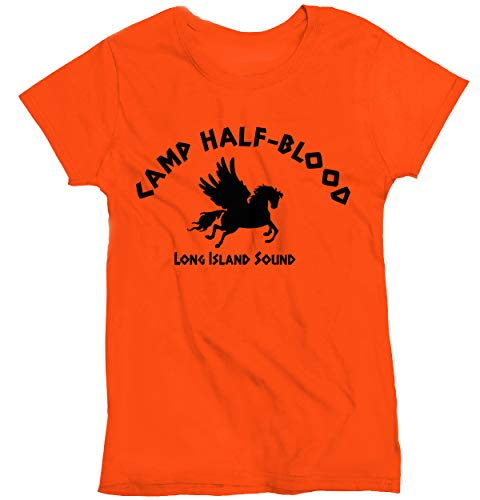 Todays Sale on Camp Half Blood Halloween T Shirt Movie Percy Jackson for A Great Gift (Large) Orange]()