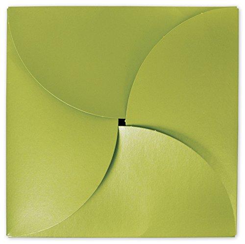 Shimmer Green Gift Card Folders, 6 x 6