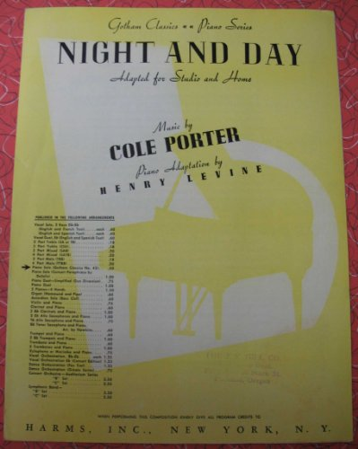 Night and Day - Piano Solo (Gotham Classics, #42) (Forty Days And Forty Nights Music Sheet)