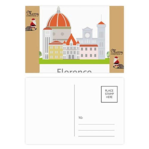 Italy Florence Landscape National Pattern Santa Claus Gift Postcard Thanks Card Mailing 20pcs ()