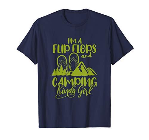 I'm A Flip Flops And Camping Kinda Girl Camper Gift Shirt T-Shirt from Flip Flops Camper Gift Shirt