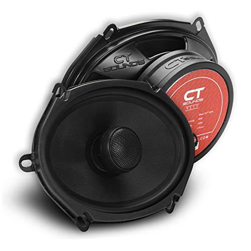 CT Sounds Meso 5x7 Inch 2-Way Silk Dome Coaxial Car Audio Coax Speakers (Pair)