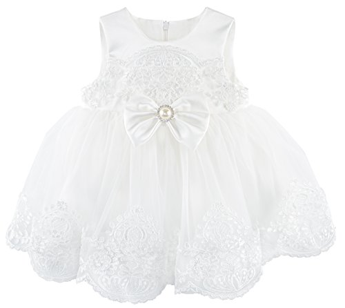Taffy Baby Girl Christening Baptism Embroidered White Dress Gown 6 Piece Deluxe Set