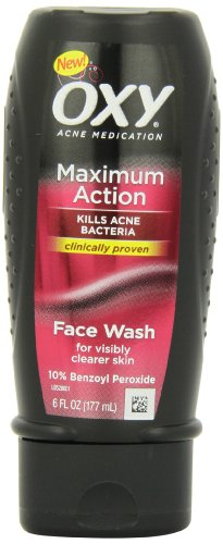 Oxy Maximum Action Face Wash, 6 Fl-Ounce (177 ml) (Pack of 4)