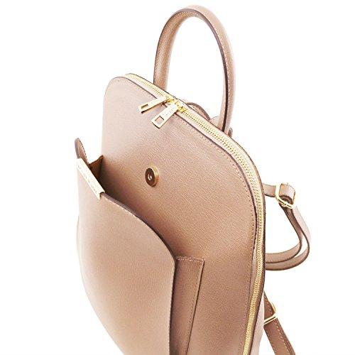 Tuscany Leather TL Bag Zaino donna in pelle Saffiano Rosso Nude