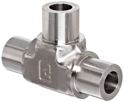 (Parker Weld-Lok 4 JW-SS Stainless Steel 316 Socket Weld Tube Fitting, Tee, 1/4