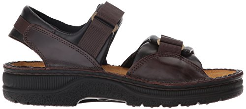 Naot Mens Andes Leather Sandals Walnut