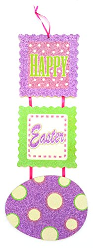 Glittery Happy Easter Egg Wall Hanging Sign