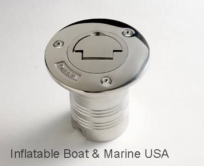 "NEW 1-1//2/"" Stainless Steel Deck Fill for Waste Boat//Marine 1 ONE"