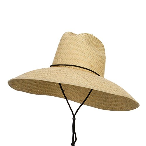 [Men's Crushed Safari Straw Hat - Natural OSFM] (Straw Safari Hat)
