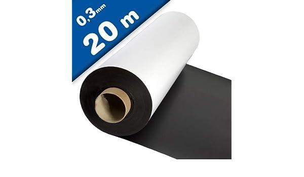 Lámina magnética blanco mate 0,3mm x 1m x 15m - crear imanes personalizados, adhiere a todas superficies metálicas: Amazon.es: Hogar